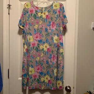 Honeyme Curvy short sleeve flower print dress XXL